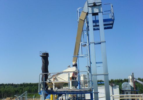 Wood pellets sorting with a Mogensen G2014 Sizer